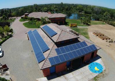 15.36kW tile roof mount solar Loomis, ca