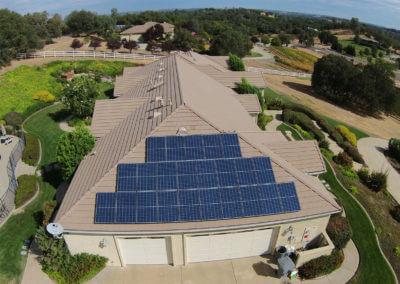 6kW portion of 15kW multi roof solar in Loomis, CA